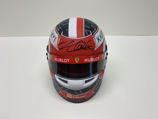 Charles Leclerc 2019 Ferrari signed mini helmet