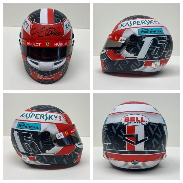 Charles Leclerc signed ferrari 2019 mini helmet