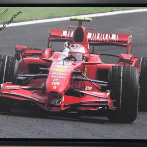 Kimi Raikkonen 2007 Celebration on Canvas