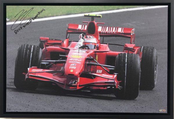 Kimi Raikkonen 2007 Celebration on Canvas