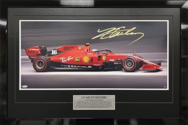 Charles Leclerc 2019 signed Full Speed Photo Ferrari