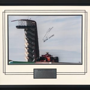 Kimi Raikkonen 2018 signed Austin victory photo
