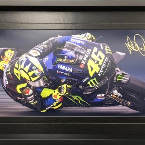 Valentino Rossi 2019 Signed photo with used Chain Link