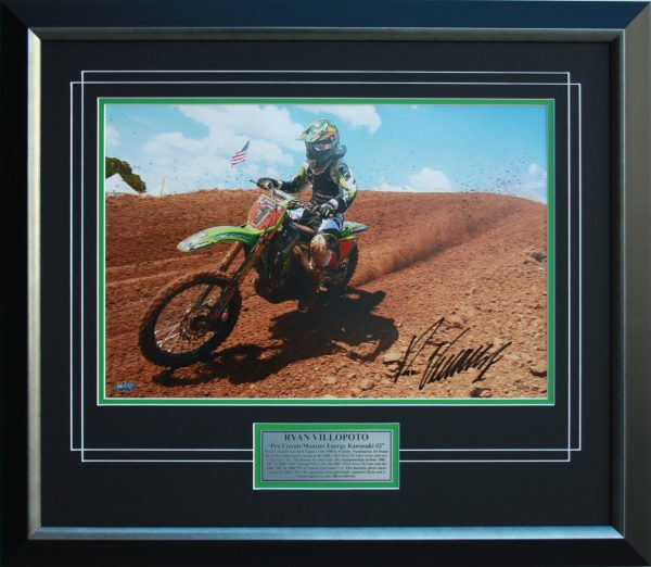 ryan villopoto leading the way signed kawasaki memorabilia