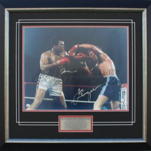 Muhammad Ali v Joe Bugner signed memorabilia boxing collectibles