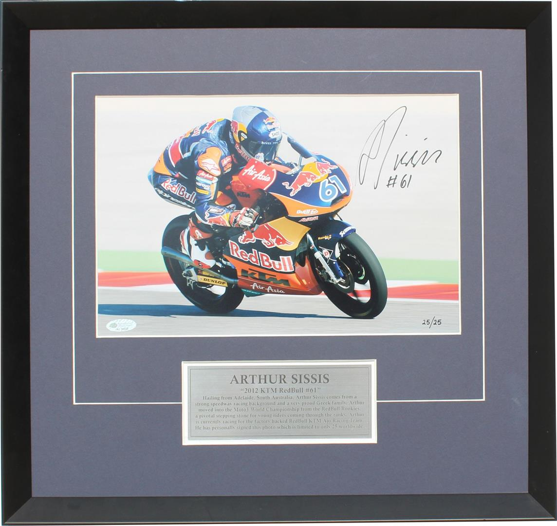 arthur sissis signed KTM moto3 memorabilia photos collectibles