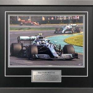Valtteri Bottas 2019 Mercedes F1 victory memorabilia collectible signed