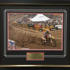 Ricky Carmichael Grand Finale signed Fox supercross memorabilia