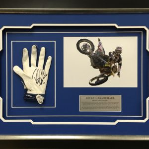 ricky carmichael signed fox racing glove memorabilia collectible