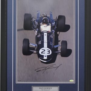 Dan Gurney signed Monaco collectible photo