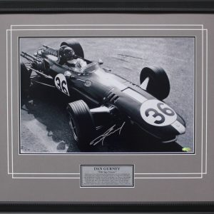 Dan Gurney Signed 1967 SPA Victory photo memorabilia