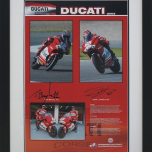ducati 2003 motogp signed troy bayliss and loris capirossi collectibles