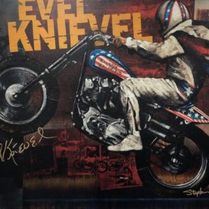 Evel Knievel by stephen holland signed memorabilia collectibles
