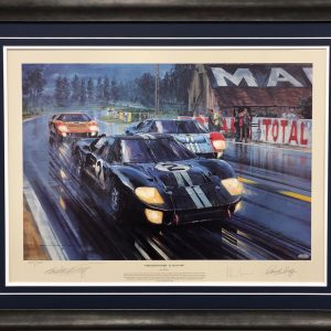 Ford 1966 Formation Finish signed LeMans memorabilia collectible