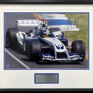 juan pablo montoya 2004 williams f1 formula 1 signed memorabilia collectibles