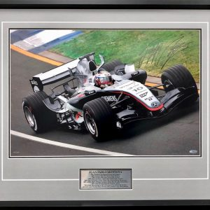 juan pablo montoya signed 2005 mercedes photo F1