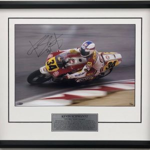 kevin schwantz signed 1991 lucky strike suzuki photo memorabilia collectibles 500cc