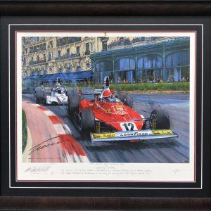 Niki Lauda signed ferrari memorabilia collectibles