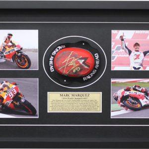 marc marquez 2014 knee slider worn motogp memorabilia collectibles
