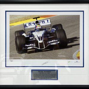 mark webber signed 2005 bmw photo memorabilia