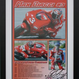 Max biaggia yamaha 500cc motogp signed collectibles