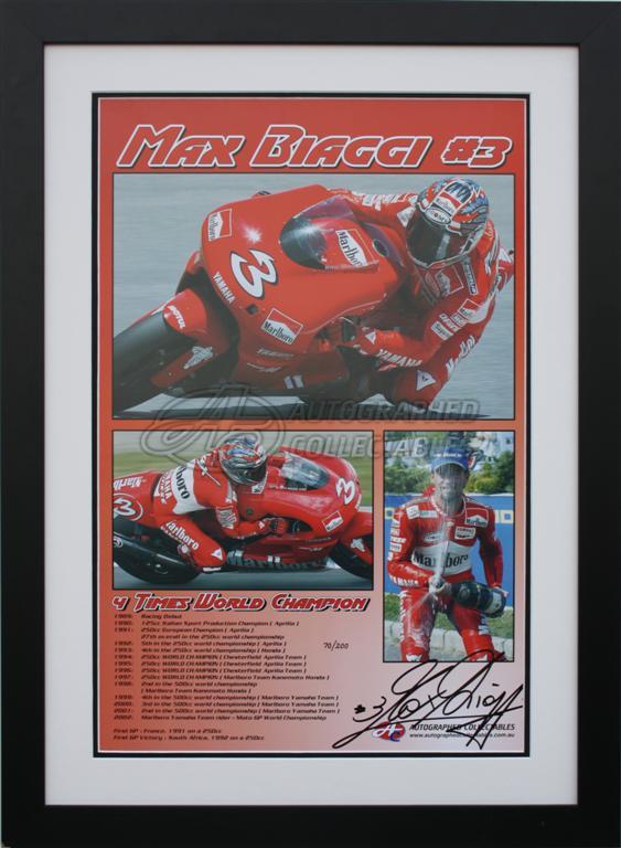 Max biaggia yamaha 500cc motogp signed collectibles