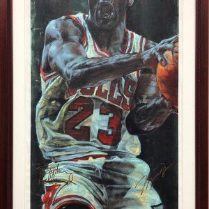 Michael Jordan signed Stephen Holland Chicago Bulls