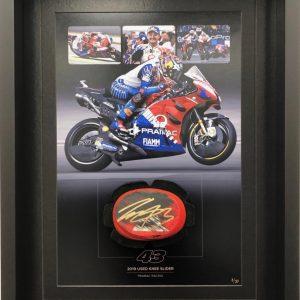 jack miller 2019 used knee slider pramac ducati motogp memorabilia
