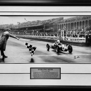 stirling moss signed aintree panoramic photo signed memorabilia