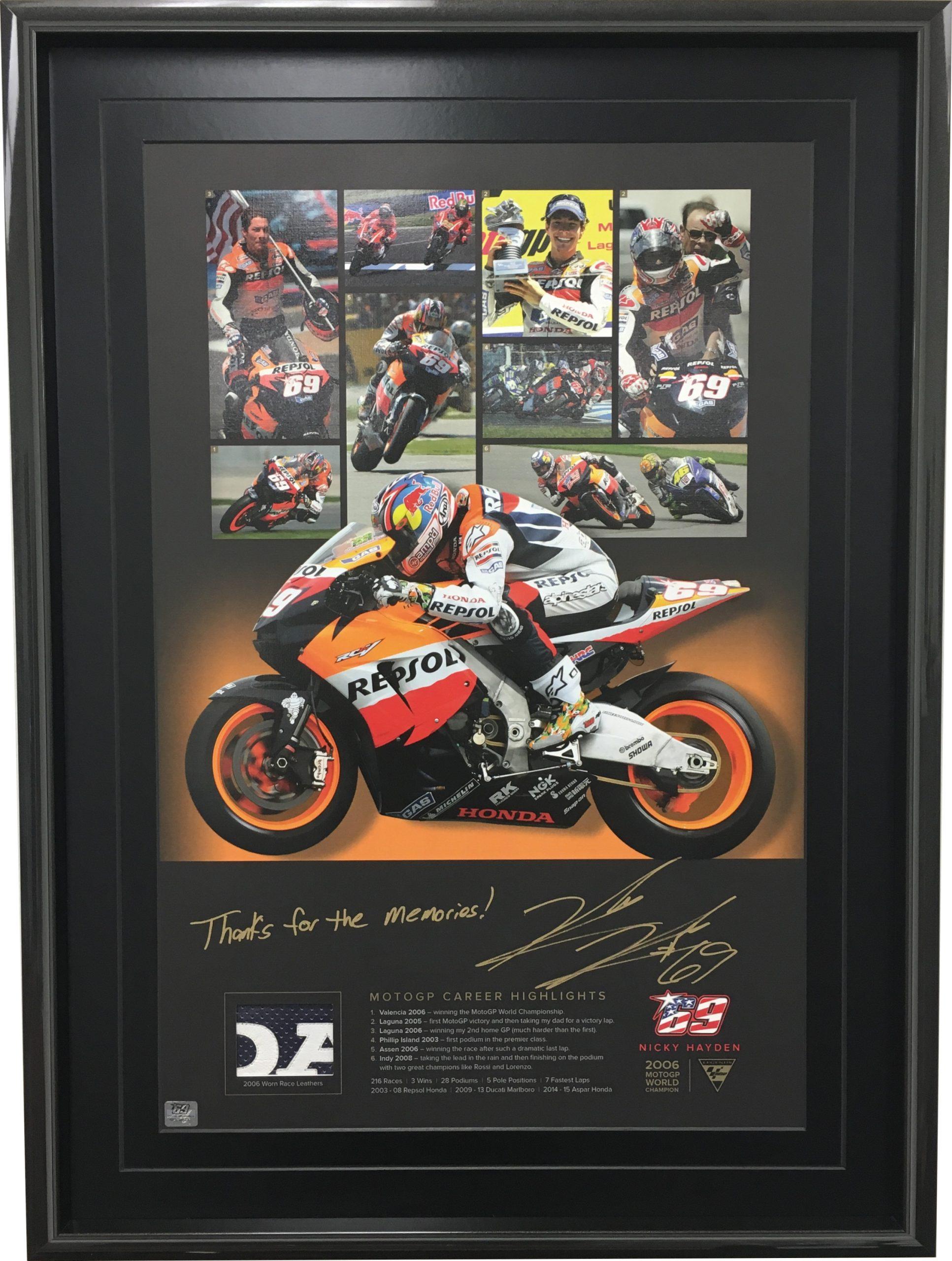 Nicky Hayden Motogp Memories Autographed Collectables
