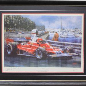 Niki Lauda 1975 monaco signed ferrari 312T collectible memorabilia