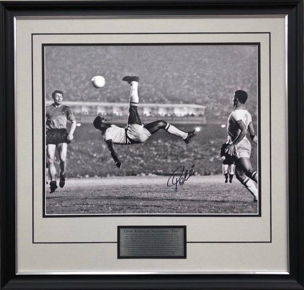 Pele signed Brazil collectibles back flip memorabilia