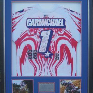 ricky carmichael 2007 mx of nations signed usa shirt memorabilia