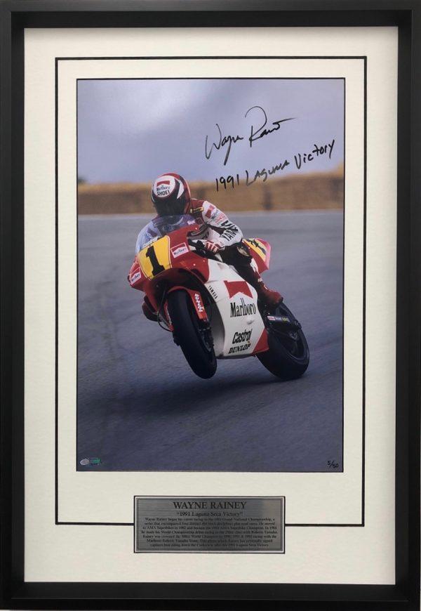 wayne rainey signed yamaha 500cc memorabilia photos