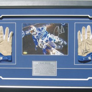 chad reed gloves signed memorabilia collectibles