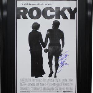 sylvester stallone rocky signed movie poster memorabilia collectibles