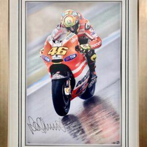 Valentino Rossi 2011 Assen Signed MotoGP Memorabilia Ducati
