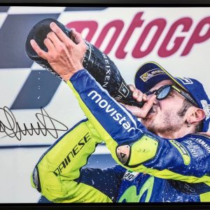 valentino rossi signed motogp yamaha silverstone podium collectibles photos
