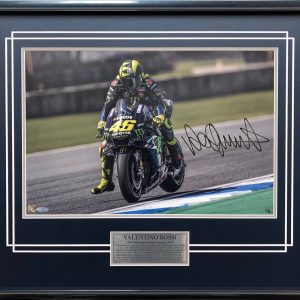 Valentino Rossi signed motogp yamaha collectibles