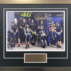 valentino rossi signed motogp yamaha memorabilia photos