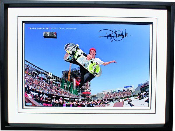 ryan sheckler signed skateboard memorabilia collectibles
