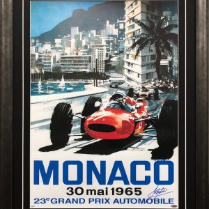 John Surtees 1965 Monaco Signed Memorabilia collectibles