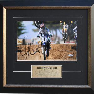 jeremy mcgrath signed memorabilia motocross supercross
