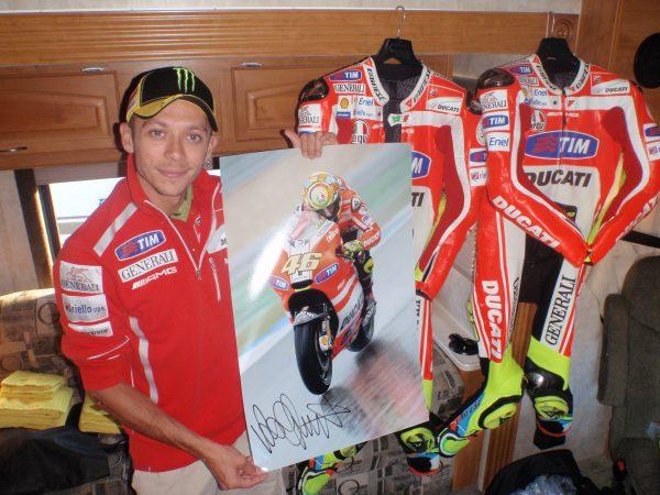 Valentino Rossi signed ducati memorabilia