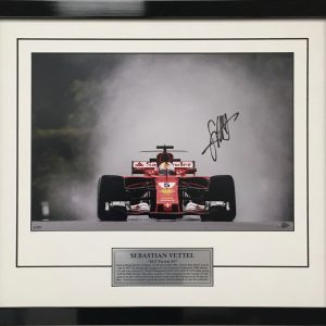Sebastian Vettel 2017 Signed Ferrari memorabilia collectible