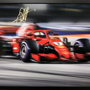 sebastian vettel 2018 signed ferrari memorabilia collectible