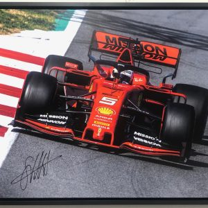 Sebastian Vettel signed Ferrari photo memorabilia collectibles