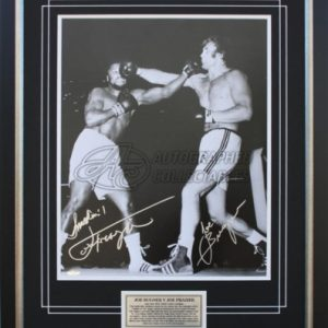 Joe Bugner v Joe Frazier dual signed photo memorabilia collectibles