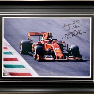 Charles Leclerc 2019 Monza Victory signed Ferrar F1 photo and memorabilia