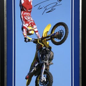 Travis Pastrana signed memorabilia kiss of death collectibles suzuki